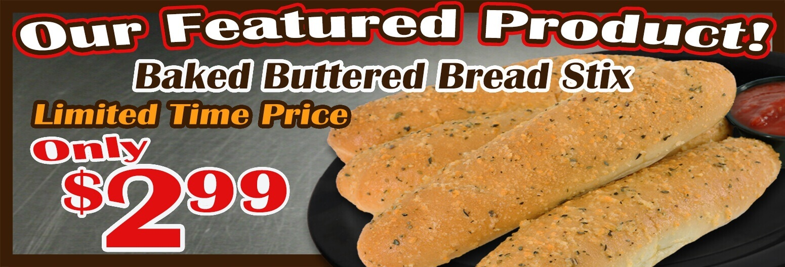Featured Product Baked Buttered Bread Stix
